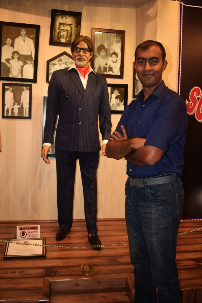 Photo with Amitabh Bacchan at Wax Museum