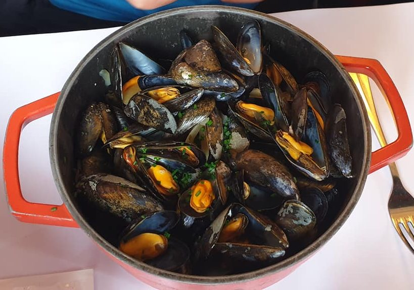 Mussels in Dinan in Brittany