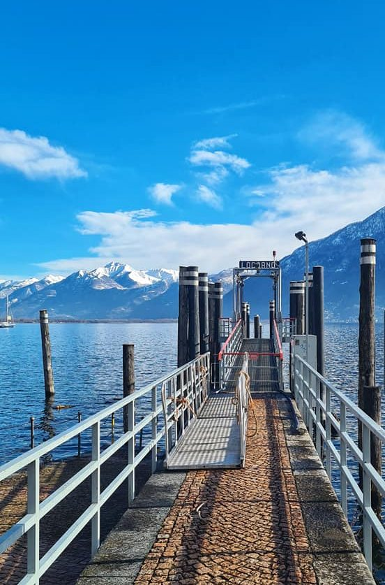 AWinter Postcard From Locarno in Switzerland