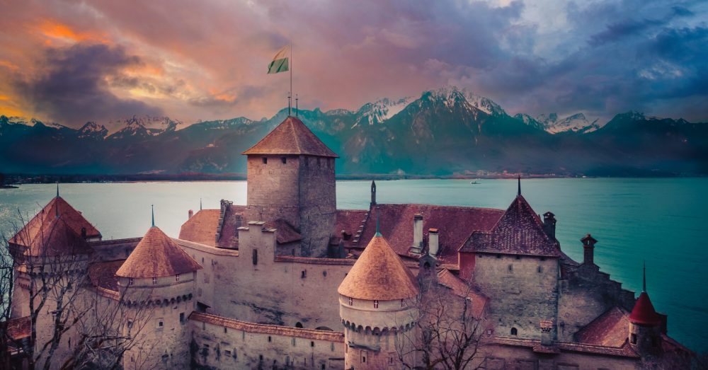 Golden Hour at Chateau du Chillon on the Beautiful Montreux Riviera