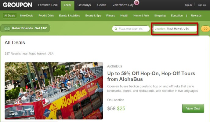 e423280b Of course you can also access the Groupon and Living Social pages for Hawaii  and see any deals that may attract you, something that slipped my mind at  the ...