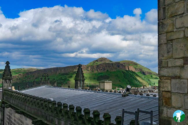 st giles cathedral roof view arthur's seat map