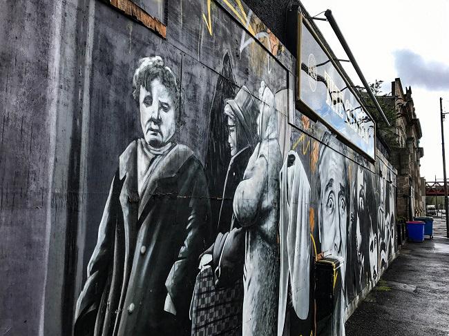 clutha bar glasgow street art