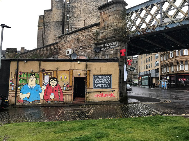 glasgow mercat cross street art