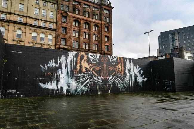 tiger merchant city glasgow street art tour