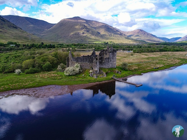 aerial photography scotland kilchurn