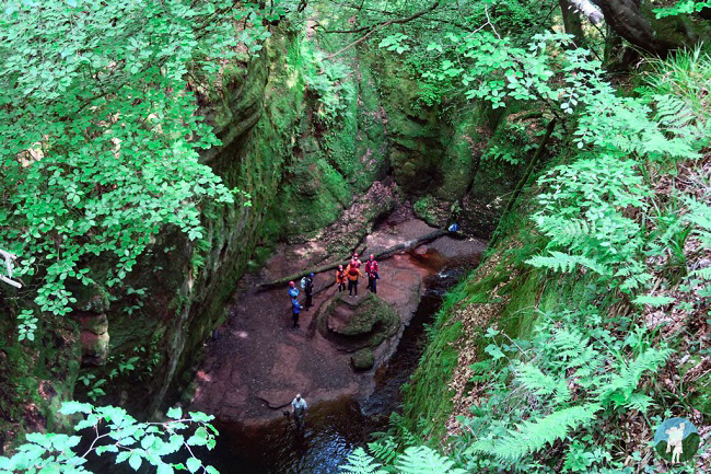 devil's pulpit from above