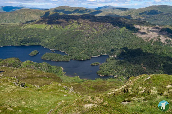 loch katrine trossachs from ben venue