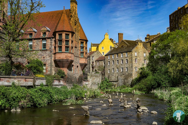 dean village famous house harry potter edinburgh