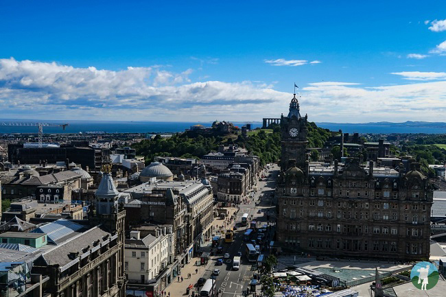 view from scott monument calton hill east