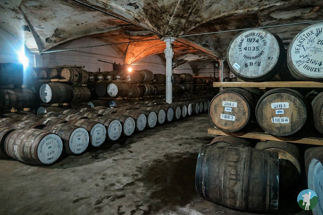 deanston distillery warehouse outlander