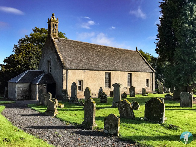 outlander filming locations tibbermore church