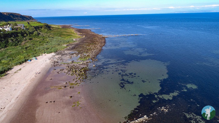 kildonan beach drone photography arran beach