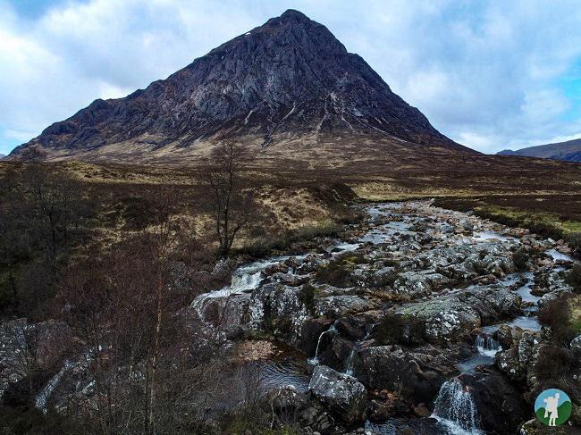buchaille etive mor drone scotland