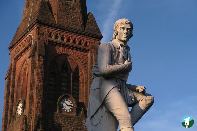 burns statue dumfries southern scotland
