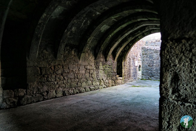 basement inside crookston castle