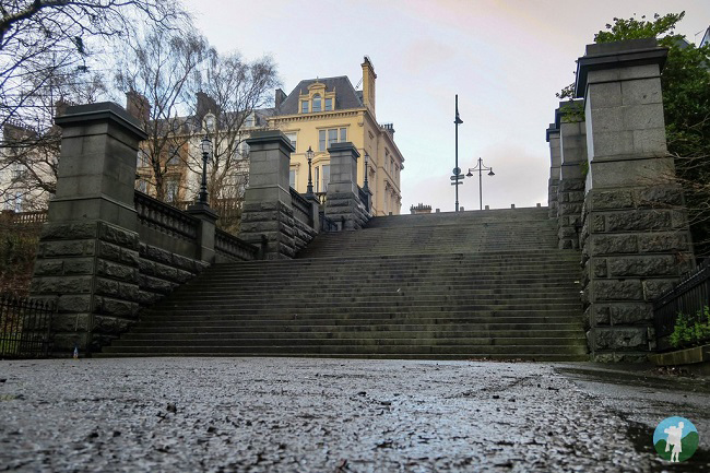 park circus stairs glasgow west end