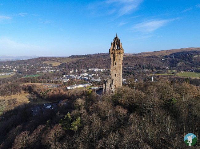 wallace monument drone stirling