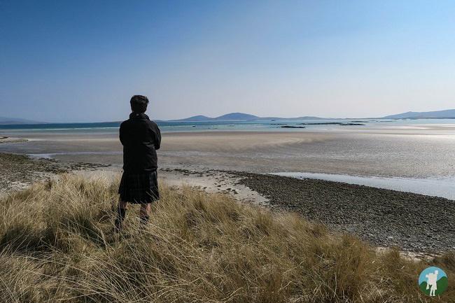 travel blog north uist walking kilt