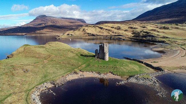 ardvreck castle north coast 500 campsites attractions