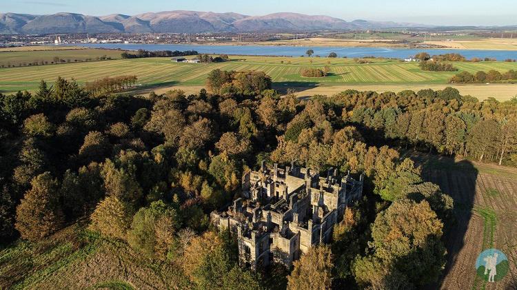 dunmore house castle derelict places drone