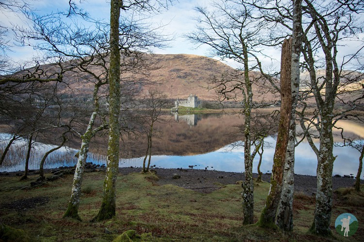 kilchurn castle trees winter argyll