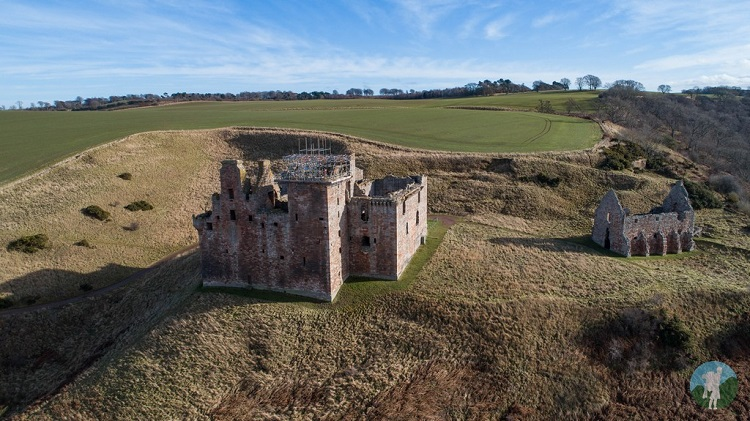 drone crichton castle edinburgh