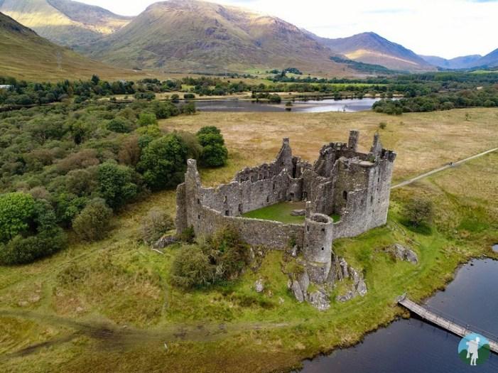 drone kilchurn castles of argyll