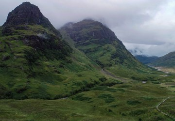 glen coe scottish highland road trip