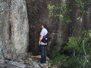Contemplating boulders