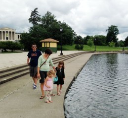 Gordon, Nika, Lucy, and Beatrix in Delaware Park, Buffalo