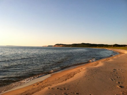 Our private beach at Sleeping Bear Dunes. We camped here for two nights with Dan and Danielle and had perfect weather.