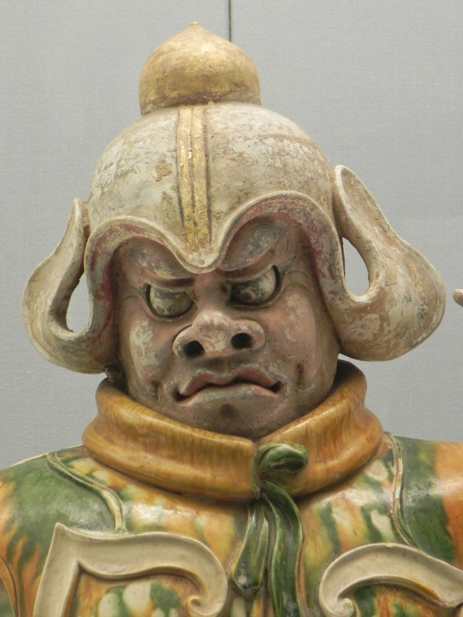 Shanghai, China, Shanghai Museum, Tang Dynasty, Polychrome Ceramic, figure, Sculpture