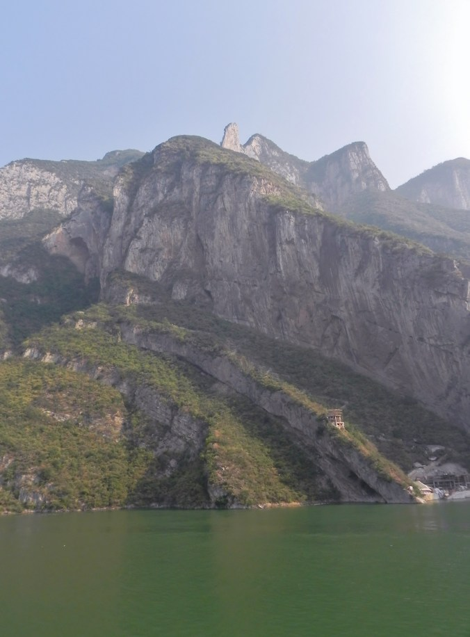 China, Yangtze River, Yangtze Cruise, Yangzi, Chang Jiang, Wu Gorge, Outcropping, Three Gorges
