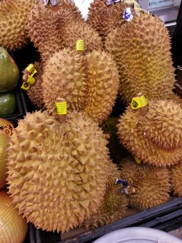 China, Hong Kong, market, fruit, Durian, Nathan Road