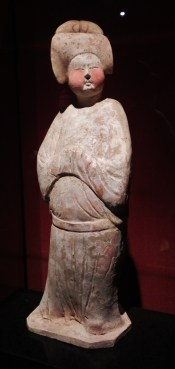 China, Shanghai, Shanghai Museum, pottery, lady, sculpture