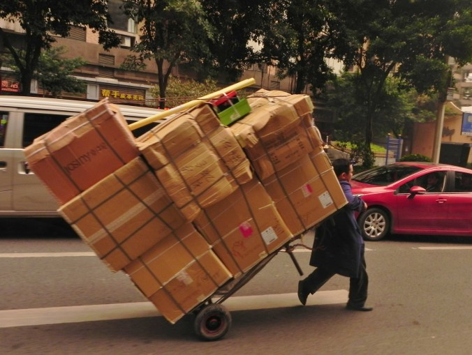 Chongqing, people, delivery man