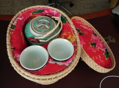 China, Hong Kong, Shangri-La, hotel, tea, basket, tea pot, tea cups
