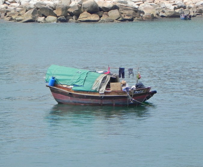 China, Hong Kong, Stanley Harbor, sampan