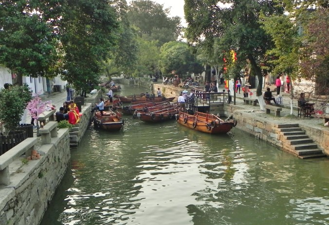 China, Shanghai, Tongli, Canal, Canal Boats