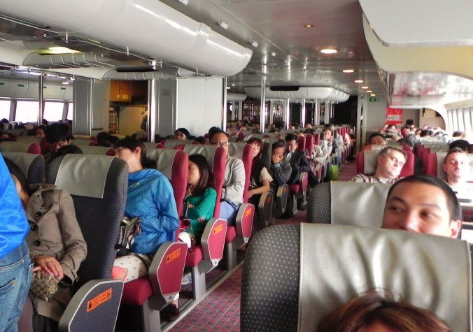 China, Hong Kong, Macau, Turbojet, seating, inside