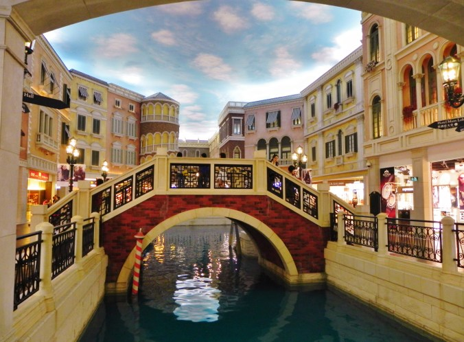 China, Hong Kong, Macau, Venetian, canal, bridge, shopping