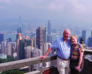 China, Hong Kong, Victoria Peak, The Peak, funicular, view