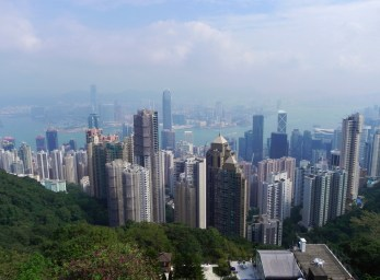 China, Hong Kong, Victoria Peak, The Peak, funicular, view, skyline