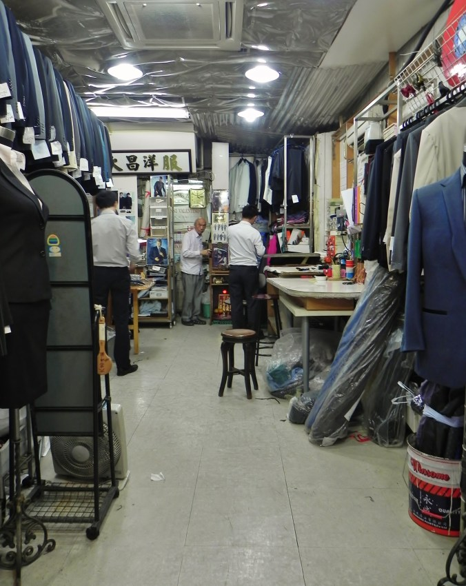 China, Hong Kong, tailor shop