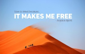 Travel makes free