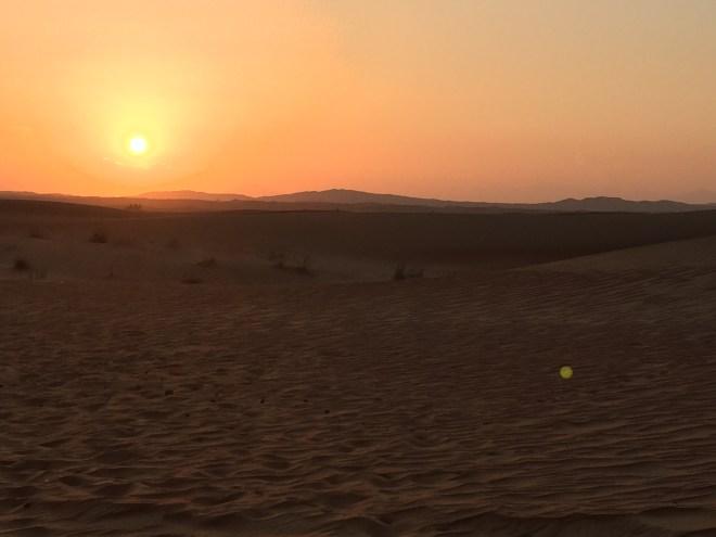 Orange sky Dubai