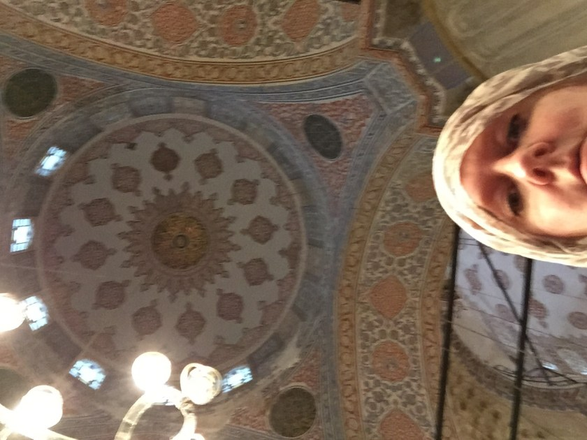One of the domes inside the Blue Mosque