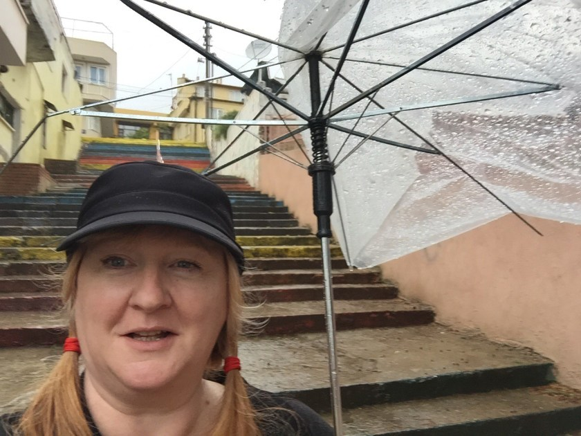 I was still thoroughly wet from walking in the rain through Ephesus before the museum and was happy to get back to the hotel.