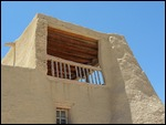 Adobe building in Acoma Pueblo, New Mexico